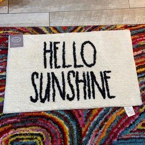 Rae Dunn Hello Sunshine Bathroom Mat NWT